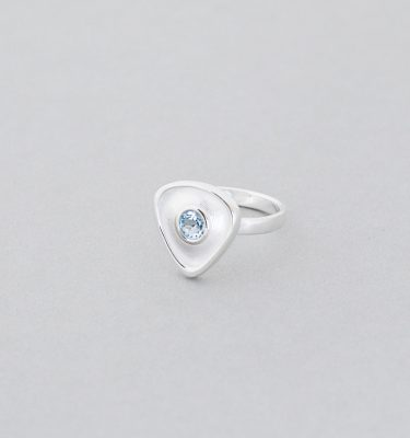 Blue Topaz Sterling Silver Gemstone Ring
