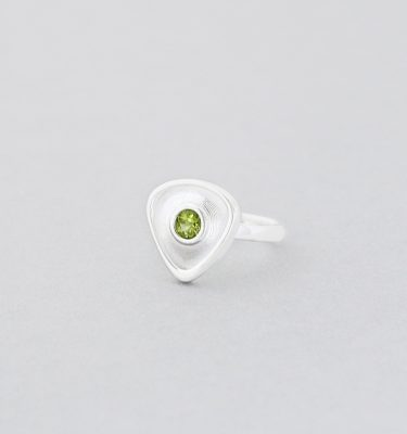 Peridot Sterling Silver Gemstone Ring
