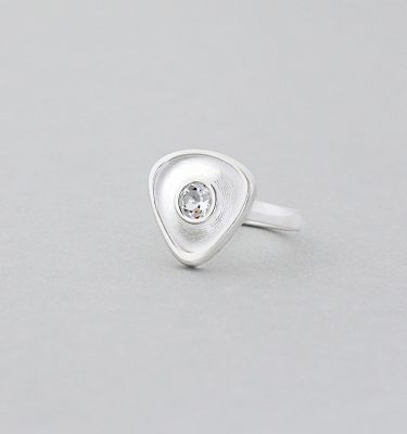 White Topaz Sterling Silver Gemstone Ring