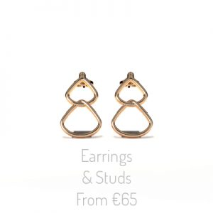 Rionore Jewellery Gold Dropstud Earrings