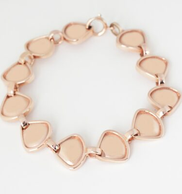 Rionore Jewellery Reversible Chunky Link bracelet in rose gold plate