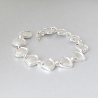 Rionore Jewellery Chunky Sterling silver reversible link bracelet