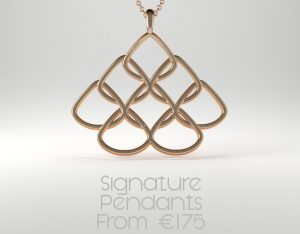 Rionore Jewellery Gold Signature Pendant