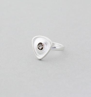 Smokey Quartz Sterling Silver Gemstone Ring