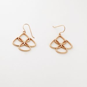 Rose Gold Chandelier Earrings