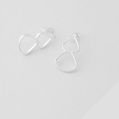 Sterling Silver Drop Stud Earrings
