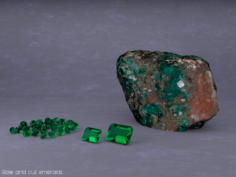 Rionore Jewellery Uncut Emerald