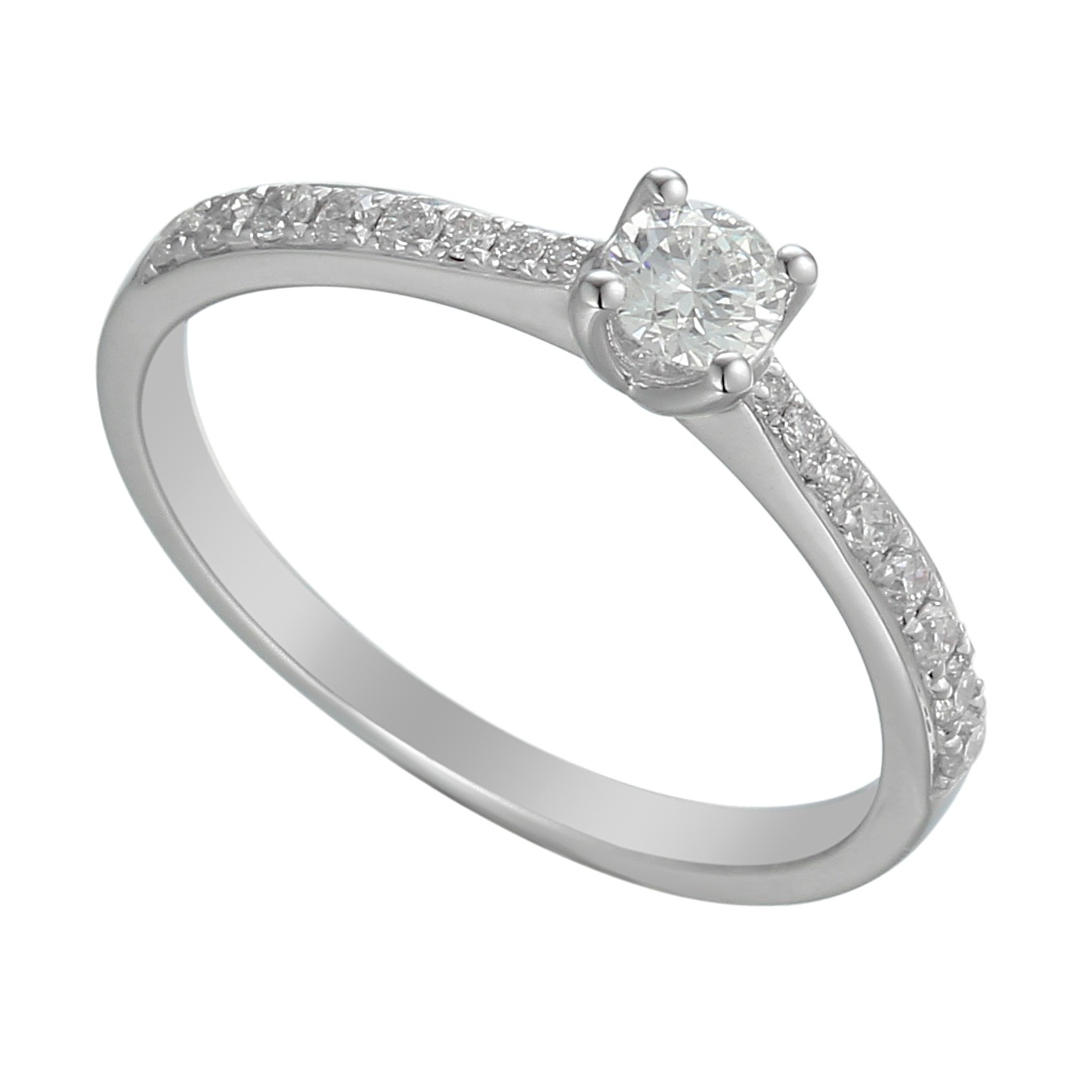 elegant diamond solitaire ring