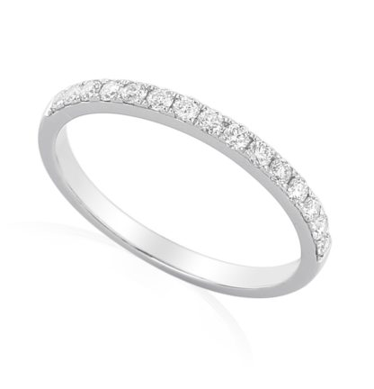 Designer 18ct white gold eternity ring, pave set with brilliant cut diamonds