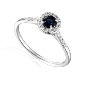white gold diamond sapphire engagement ring
