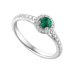 emerald diamond engagement ring