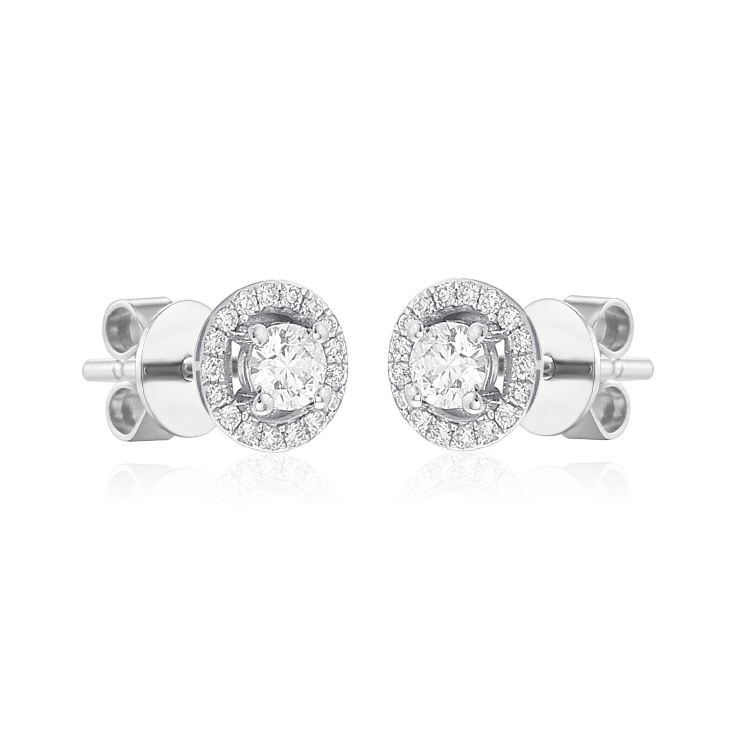 brilliant halo stud earrings