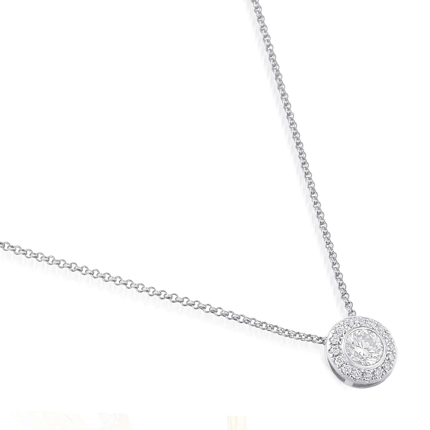 18ct white gold pendant