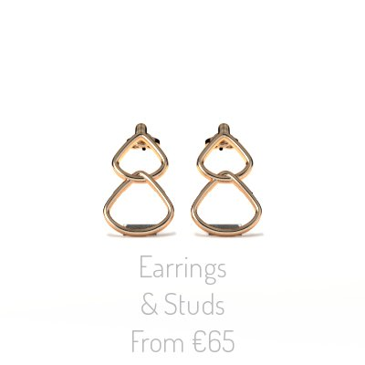 Rionore Jewellery Rose Gold Drop-Stud Earrings