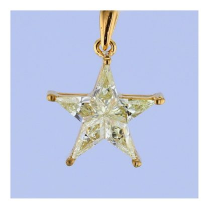 Rionore Jewellery gold star pendant fashioned from gold set with yellow diamond