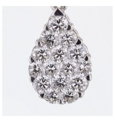 Rionore Jewellery 15 Diamond invisible set white gold pendant