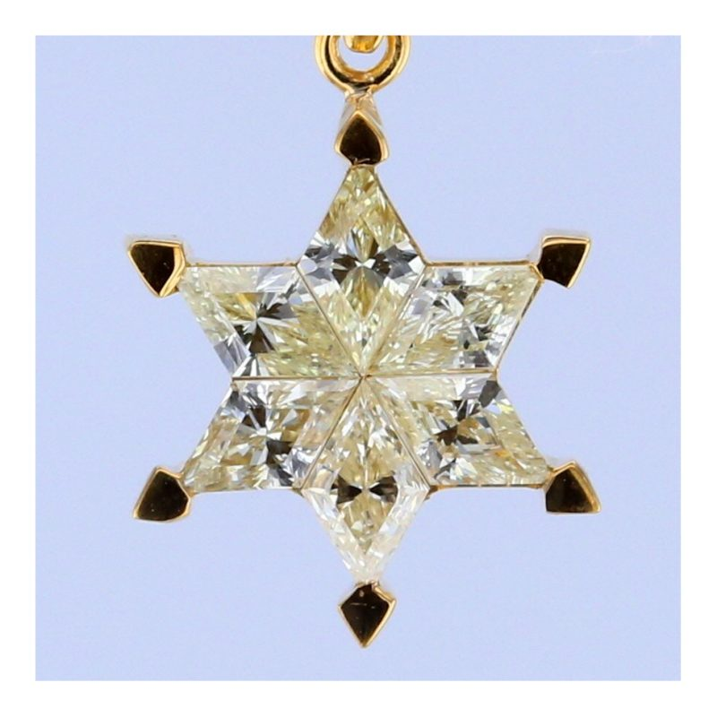 Rionore Jewellery yellow diamond gold star pendant