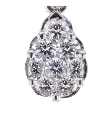 Rionore Jewellery 8 Diamond invisible set 18ct white gold pendant