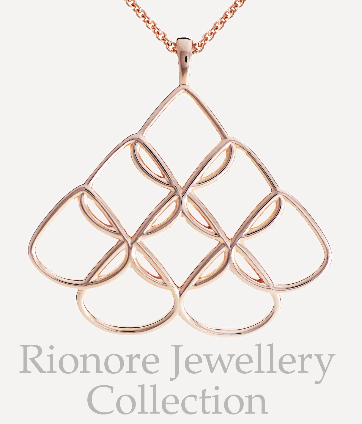 Rionore Designer jewellery in sterling silver and rose gold