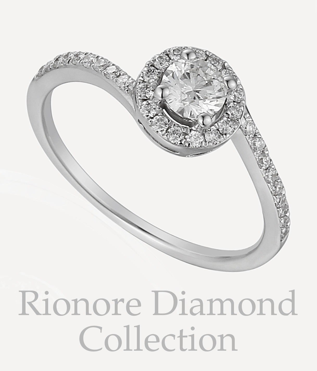 Rionore bespoke made-to-order diamond jewellery in 18ct white gold and platinum