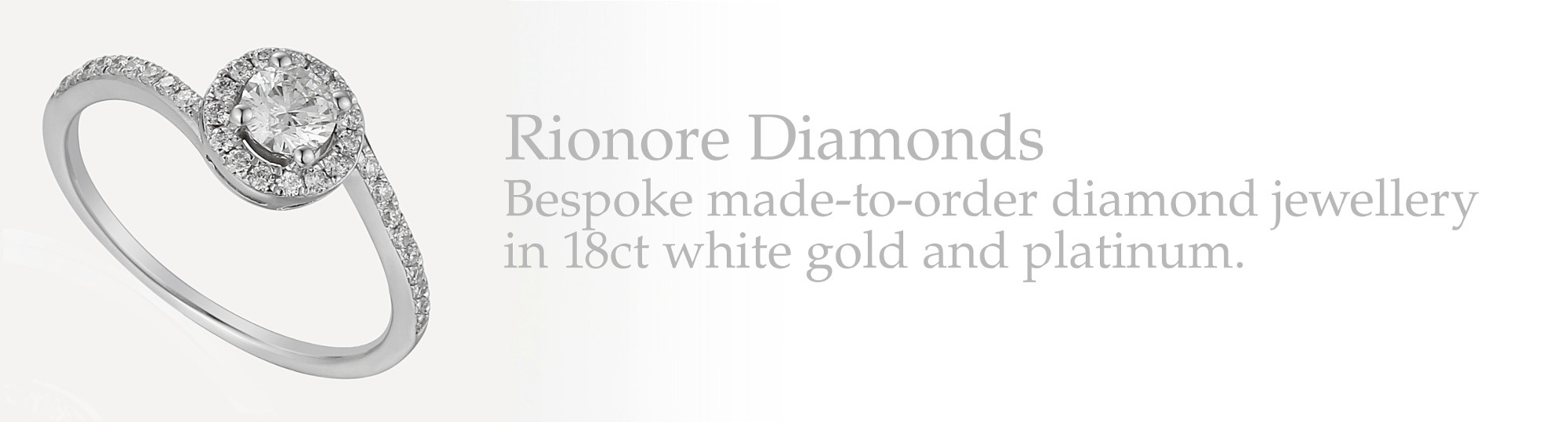 Bespoke made-to-order diamond jewellery in 18ct white gold and platinum