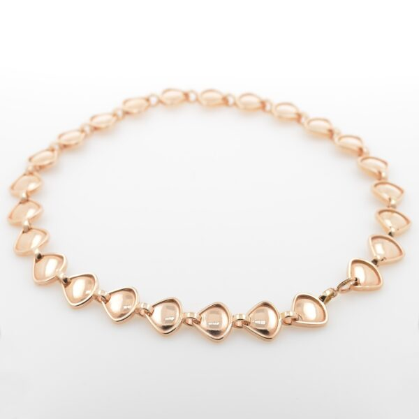 Rionore chunky choker reversible necklace in rose gold plate