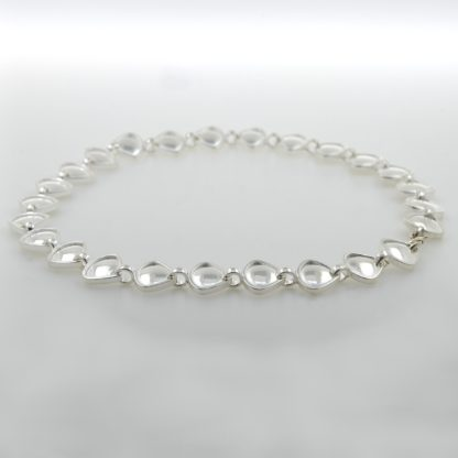 Rionore chunky sterling silver choker reversible necklace