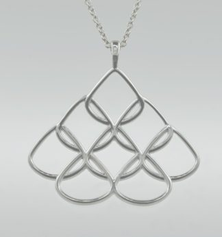 Rionre Large Designer Signature Pendant in sterling silver