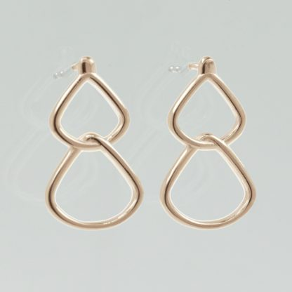 Rionore simple drop earrings in rose gold plate