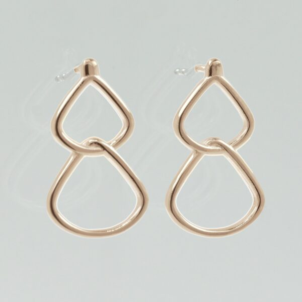simple gold drop earrings