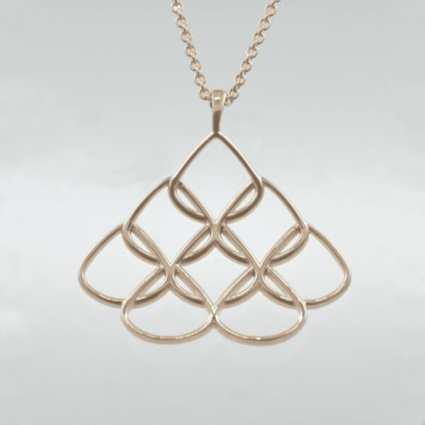 rose gold chain with pendant