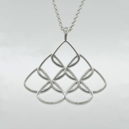 Rionore sterling silver designer pendant and chain