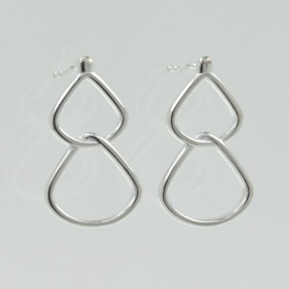 Rionore Jewellery sterling silver stud drop earrings