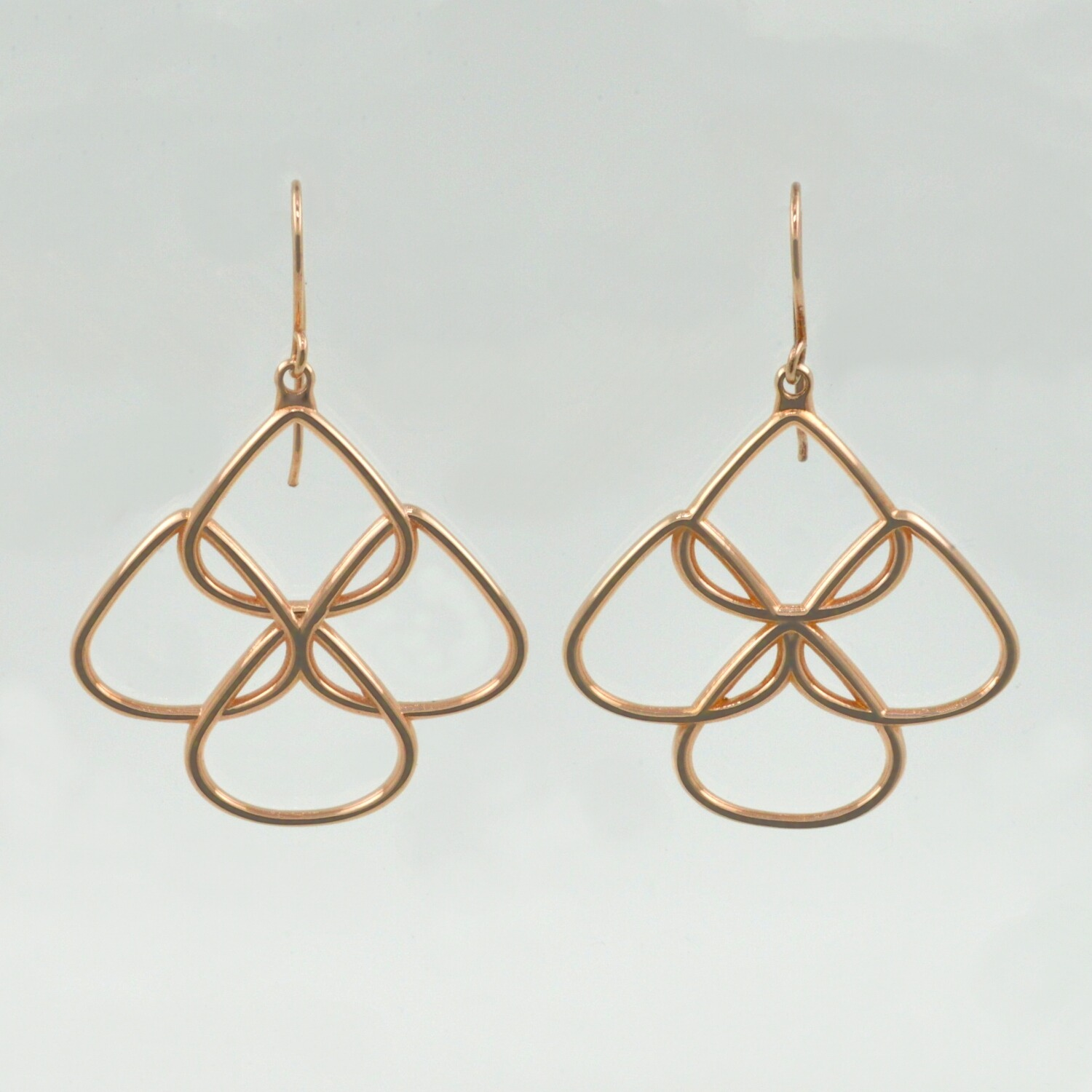 Rose gold chandelier earrings rionore jewellery gold plated chandelier earrings rose gold chandelier earrings arubaitofo Image collections