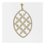 RIONORE JEWELLERY MARQUISE YELLOW DIAMOND GOLD PENDANT
